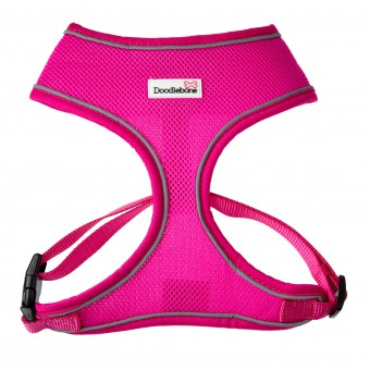 Doodlebone Airmesh Hondentuig Neon roze