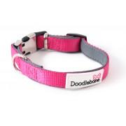 Doodlebone Bold Hondenhalsband gewatteerd Neon roze