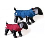 Doodlebone Combi-Puffer omkeerbare hondenjas Blauw / framboos