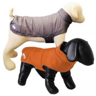 Doodlebone Combi-Puffer omkeerbare hondenjas Oranje / antraciet