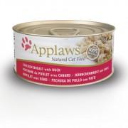 Applaws Cat Blikvoer Bouillon, kip & eend