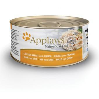 Applaws Cat Blikvoer Bouillon, kippenborst & kaas