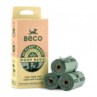 BecoBags poepzakjes Compostable 60 (4x15)
