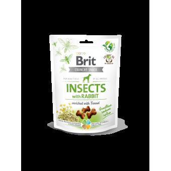 Brit Crunchy Snack Insect & Konijn