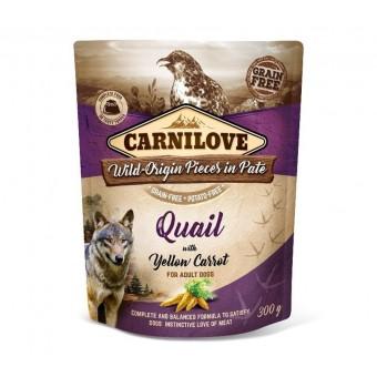 Carnilove Hond Pouch Kalkoen & Kwartel met Gele Wortel