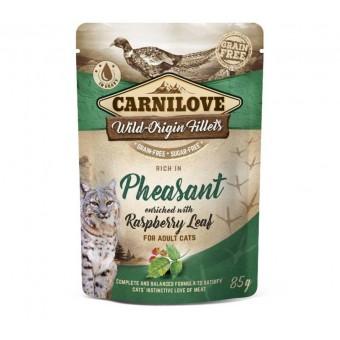 Carnilove Kat Pouch Kip & Fazant met Framboosblad