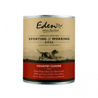 Eden Dog Wet Food Country Cuisine (lam, hert, konijn & eend)