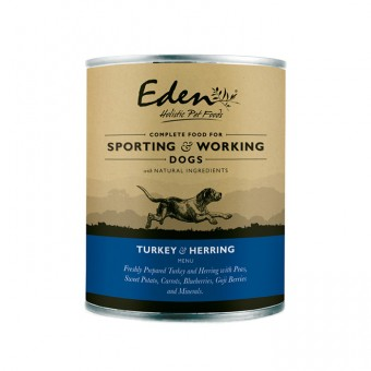 Eden Dog Wet Turkey & Herring (for sporting & working dogs)
