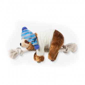 Fringe Beanie Sweater Sloth on a rope