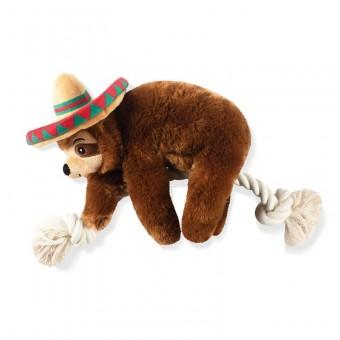 Fringe Sombrero Sloth on a rope