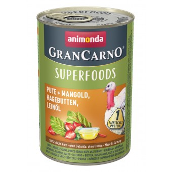 Grancarno Superfoods Kalkoen, Snijbiet, Rozenbottel & Lijnzaadolie