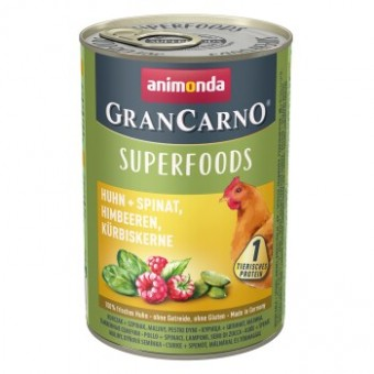 Grancarno Superfoods Kip, Spinazie, Frambozen & Pompoenzaden