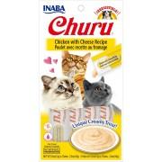 Inaba Kat Churu Puree Kip met Kaas